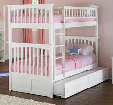 White Bunk Bed With Trundle Columbia Bunk Bed With Trundle Bed