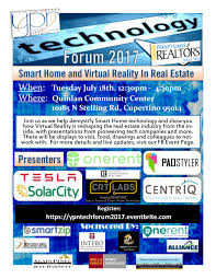2017 Smart Home Ypn Tech Forum 2017 Smart Home And Virtual Reality In Real