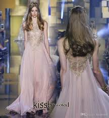 2016 elie saab peach pink prom dresses custom made cheap o neck
