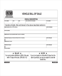 sample bill of sale vehicle form 8 free documents in pdf