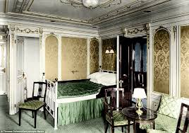 Titanic 1st Class Dining Room Colourised Images Show The Luxury Aboard The Titanic Daily Mail