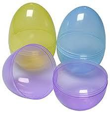 jumbo plastic easter eggs jumbo 6in assorted color easter eggs 6 pack toys