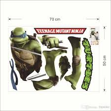 3d teenage turtle character vinal wall decal removable kids art