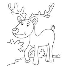 20 free printable reindeer coloring pages