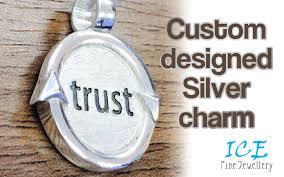 custom charm custom charm design in silver focus jewellery