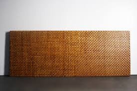 luxurious woven aged leather headboard u2013 for king queen sized