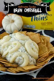 Halloween Snacks Brain Cheeseball Eazy Peazy Mealz