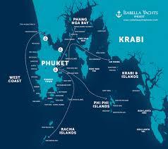 Phuket Map Phuket Yachting U0026 Boating Locations