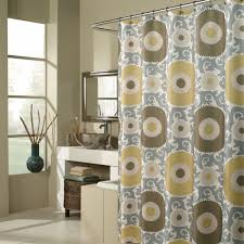 Brown Floral Shower Curtain Bathroom Grey Extra Long Fabric Shower Curtains For Bathroom