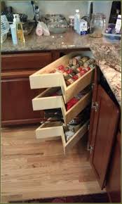 blind corner cabinet pull out diy cabinets drawer kitchen also