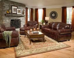 leather livingroom set living room 10 charming living room accent wall with brown