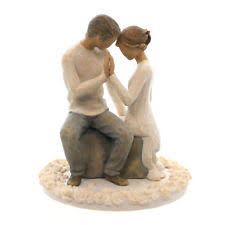 willow tree around you bride and groom wedding cake topper