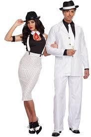 his and hers costumes dreamgirl 5 pce sleek 40 s style gangster costume marys secret