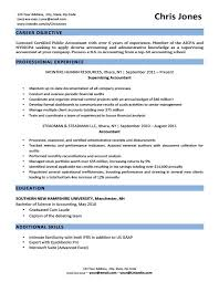 Objective In A Resume Example by Objective Resume 14 Accounting Resume Objectives Read More Httpwww