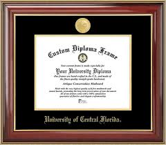 ucf diploma frame of central florida diploma frame gold medallion