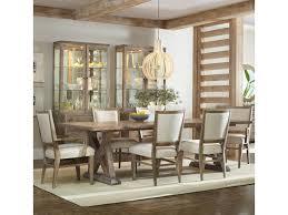 hooker furniture studio 7h 7 piece dining set with geo trestle