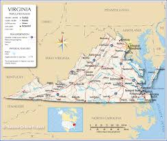 Map Of Usa Capitals by Reference Map Of Virginia Usa Nations Online Project