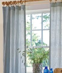 ticking stripes rod pocket curtains country curtains