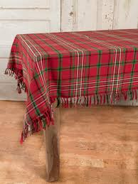 christmas plaid tablecloth linens u0026 kitchen tablecloths