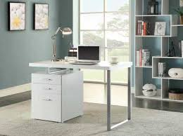 Modern Desk With Drawers Grey Modern Desk Co 520 Desks