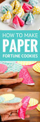 how to make paper fortune cookies these cute diy paper fortune