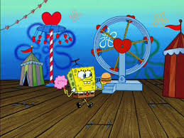 image spongebob wearing 1 hat u0026 holding cotton candy u0026 1 krabby