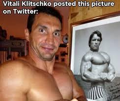 Schwarzenegger Meme - vitali klitschko vs arnold schwarzenegger meme collection