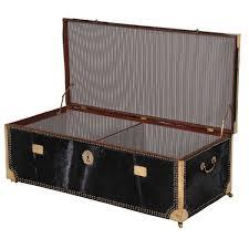hide u0026 seek cowhide storage trunk black u0026 gold trunk
