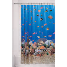 Fish Curtains Home Shower Curtain Cozumel Vinyl