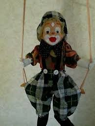 clown puppets for sale vintage marionette clown puppet doll on swing ebay