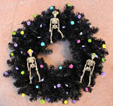 sugar skull wreath decor for halloween morena u0027s corner