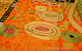 Modern Green Rugs Klimt Orange Green Rugs Abstract Wall Hangings Accent Carpets