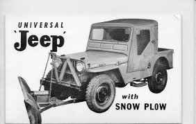 safari jeep drawing b u0026w postcard of a cj 3a jeep w snowplow on ebay ewillys
