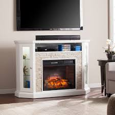 redden corner convertible infrared electric media fireplace