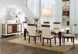 rooms to go dining sets sofia vergara savona ivory 5 pc rectangle dining room dining