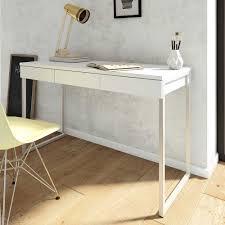 Pc Schreibtisch Mit Aufsatz Pc Tisch Manadoza In Weiß Mit 3 Schubladen Pharao24 De