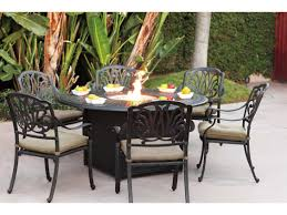 Patio Table With Firepit Dining Table Pit Dining Table And Chairs Uk Pit Dining