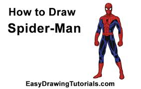draw spider man body