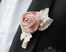 groom s boutonniere fabric gold wedding boutonniere grooms accessories