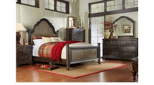 king poster bedroom set arbor ridge cherry 7 pc king poster bedroom transitional