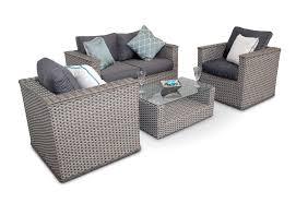 bahia 4pc rattan wicker sofa outdoor garden set natural whitewash