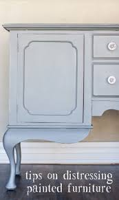 distressing painted furniture mudpaint