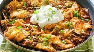 easy beef burrito skillet recipe bettycrocker
