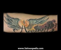 wing tattoos with names free fonts tattoos cursive