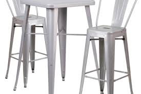 silver metal bar table 8 patio bar table stools exterior magnificent bar height patio