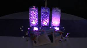 water centerpieces 3led submersible lights purple blyss water