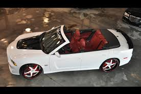 dodge charger convertible 2012 dodge charger srt8 custom convertible on forgiato rims only