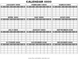 printable calendar year on one page printable one year calendar roberto mattni co