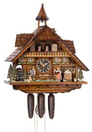engstler chalet style eight day musical cuckoo clock with clock
