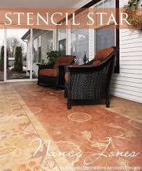 Decorative Floor Painting Ideas 83 Best Stencil Images On Pinterest Wall Stenciling